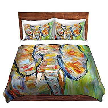 Duvet Covers Premium Woven Twin, Queen, King from DiaNoche Designs by Karen Tarlton Home Decor and Bedding Ideas - Wild Elephant