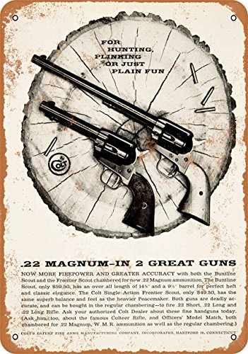 Wall-Color 9 x 12 METAL SIGN - 1959 Colt Buntline Scout and Frontier Scout - Vintage Look Reproduction