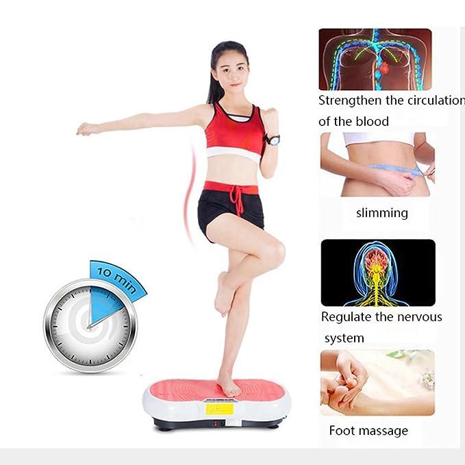 La máquina del ejercicio de la placa de la vibración del cuerpo ...