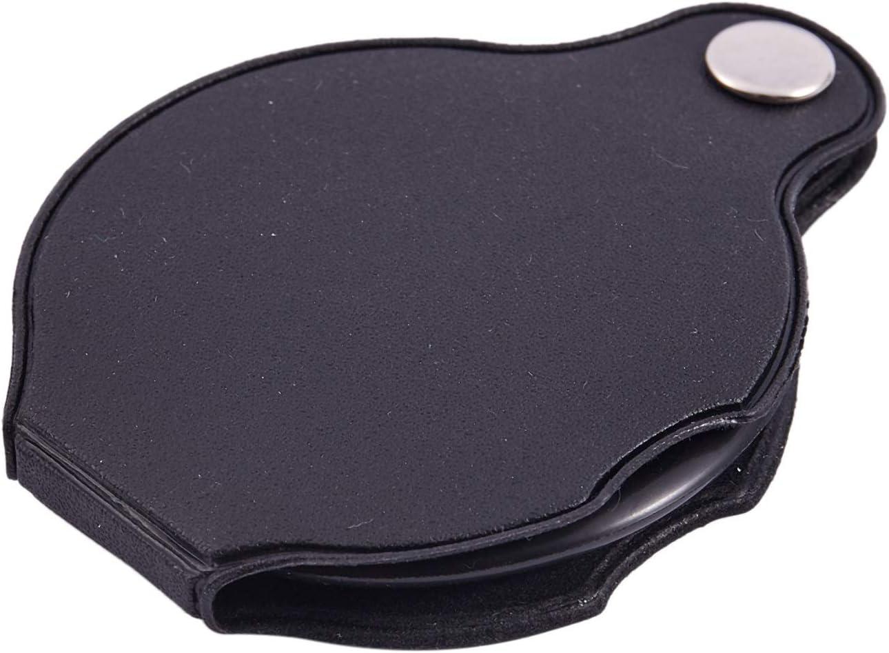 WOVELOT 4X rotondo pieghevole tasca pieghevole Spiegel Lente di ingrandimento nero