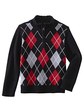 5d4229ecd Amazon.com  Toughskin Infant   Toddler Boys Black   Red Argyle ...