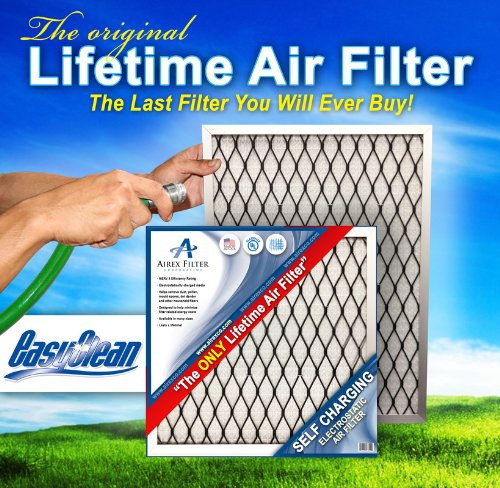 "20x 25x 2Lifetime Electrostatic AC炉エアフィルタ。Washable。Never Buy別フィルタAgain。実際サイズ: 19.5CM x 24.5CM x 1.75"""