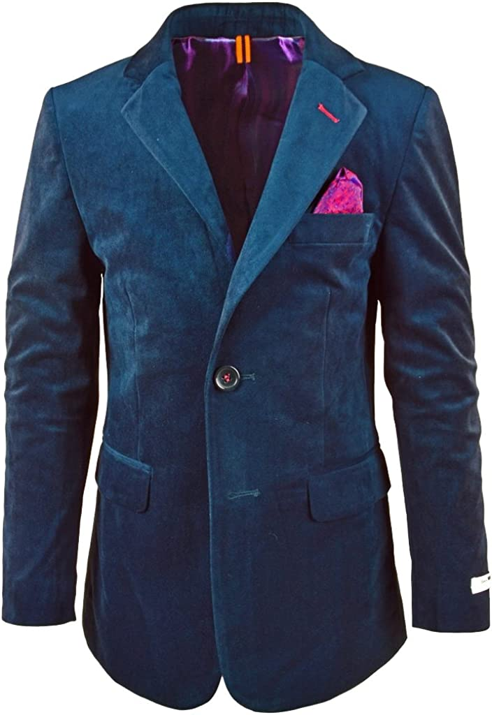 Isaac Mizrahi Big Boys Single-Breasted Velvet Blazer Jacket