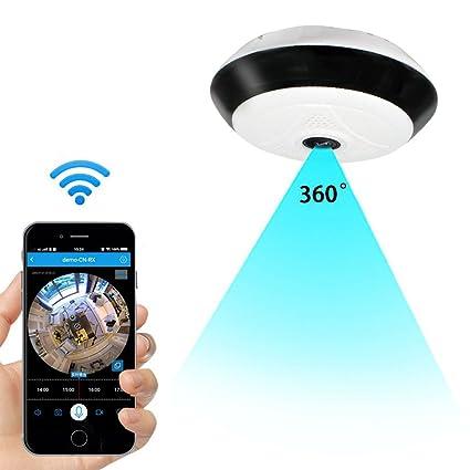 Anviker Cámara de seguridad IP inalámbrica Wi-Fi,Cámara de interior HD de 360