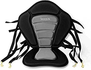 Detachable Universal Paddle-Board Seat - Adjustable Paddle Board Seat, Form-Fitting Design for All Body Sizes, Large & Small, Compatible for Kayaks, Rowboats, Fishing Boats - SereneLife SLSUPST15