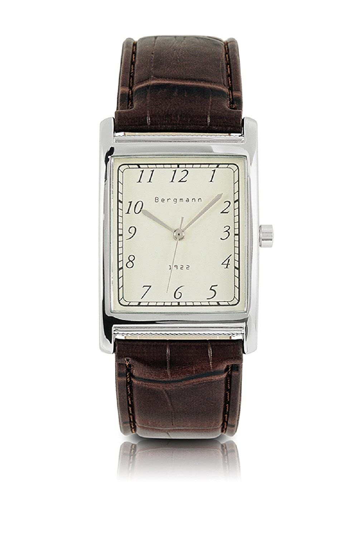 Amazon.com: Bergmann clásico Relojes para hombres Rectángulo ...