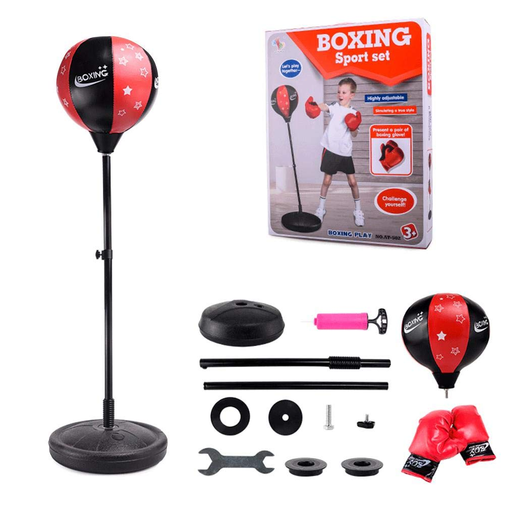 PROKTH Teen Fitness Freestanding Reflex Punching Bag Boxing Reflex Ball Teenagers Kids TechTools Great Exercise & Fun Activity