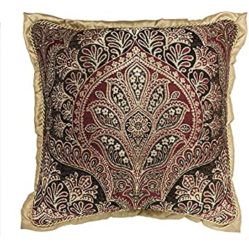 Croscill Roena Square Pillow, Burgundy