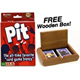 "Pit - The All-Time Favorite ""Card Game Frenzy"". Plus FREE Wooden Box!"