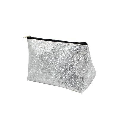 3 Pcs Portable Makeup Cosmetic Bags Set Women Glitter Lightweight Beauty Storage Travel Toiletry Organizer Pouch Holder