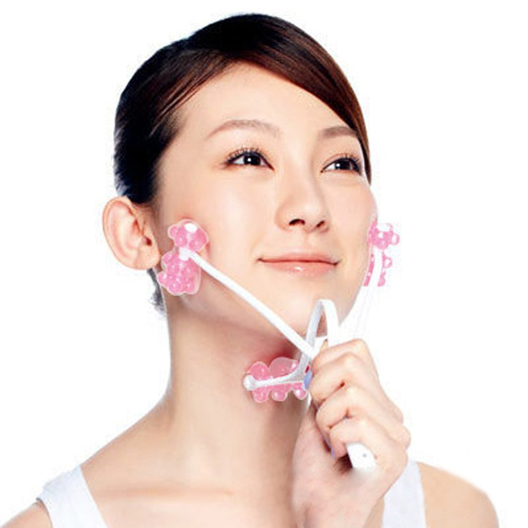 Pink Natural Anti-aging Elasticity Facial Roller Massager for Neck Face By VAGA®