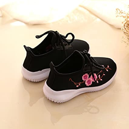 IGEMY Children Girls Sneaker Casual Shoes Flower Embroidery Kids Breathable  Shoes: Amazon.co.uk: Clothing