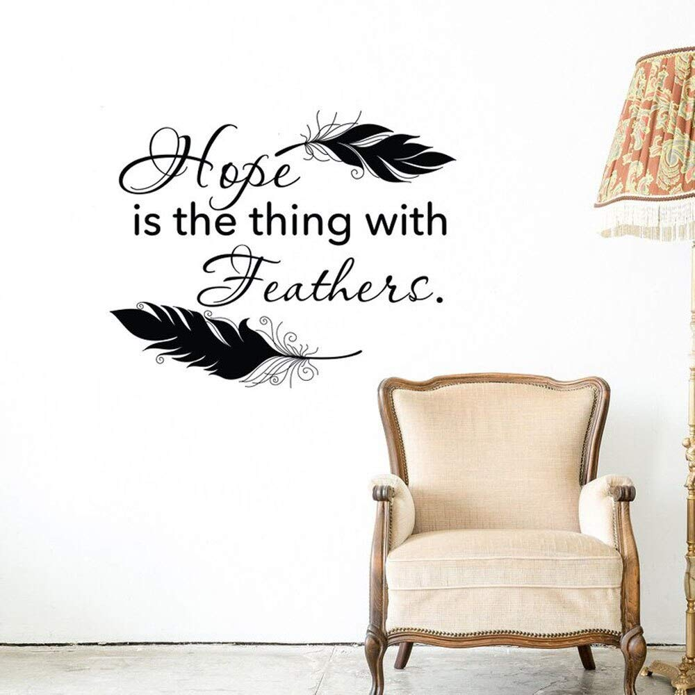 haotong11 Hope Is The Thing with s Tatuajes de Pared Cita ...