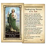 Thanksgiving Novena to St. Jude Laminated Holy Card - Pack of 3