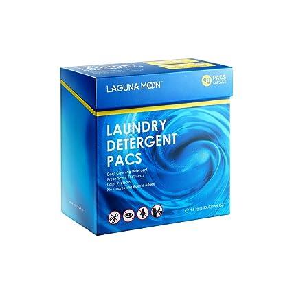 Lagunamoon 3en1 Detergente en Cápsulas para Lavadora, Protección del Color y Suavizante (90 Lavados)
