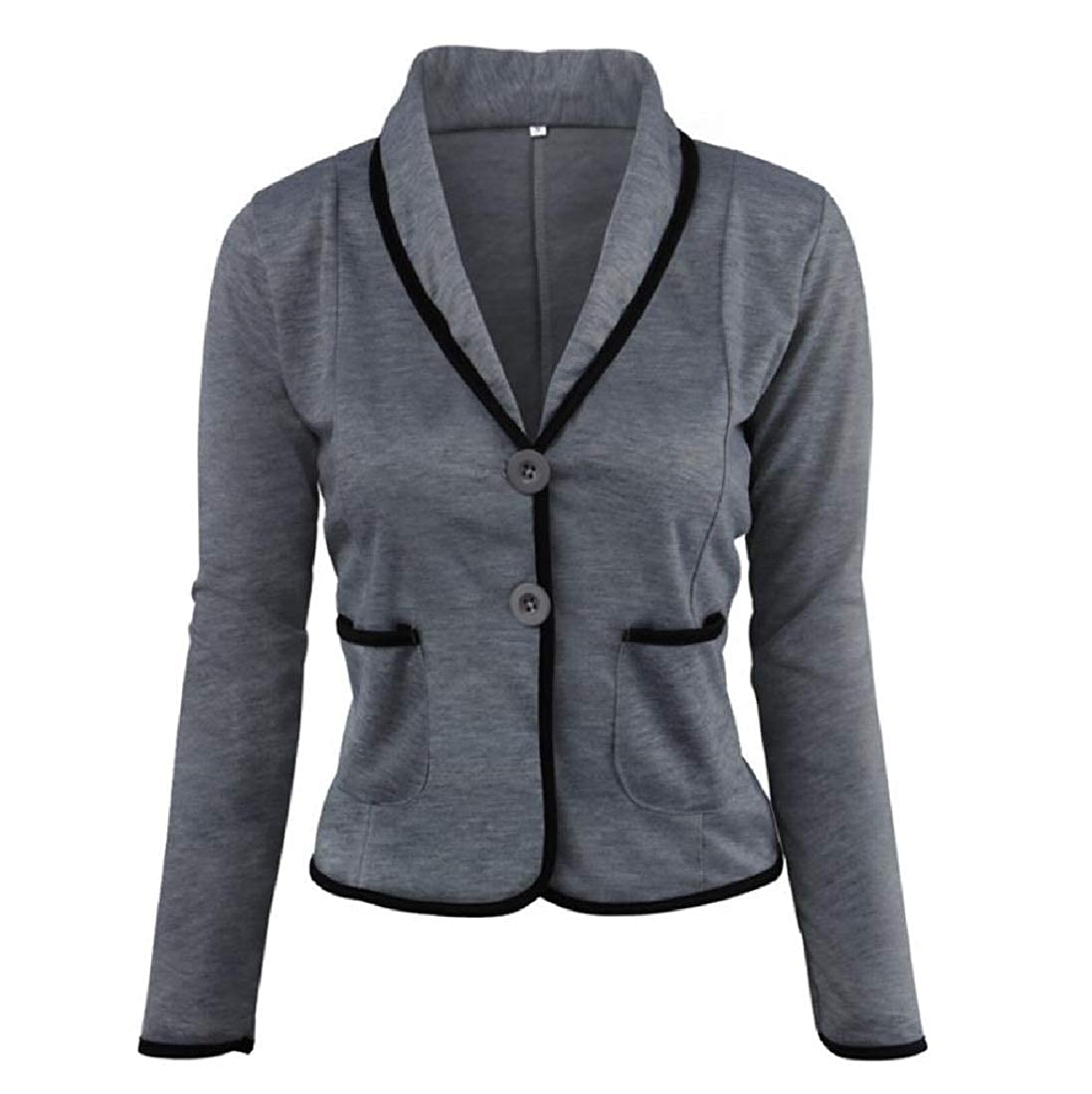 YUNY Women Outerwear Casual Performance Career Blazer Suit Coat Tops Dark Grey 3XL