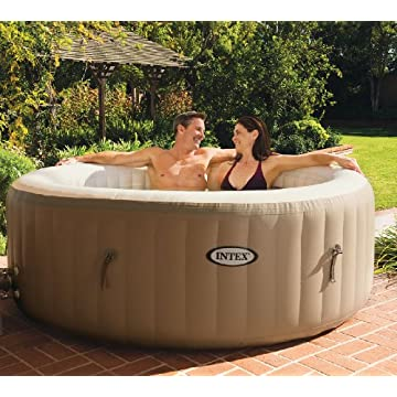 Intex PureSpa 4-Person Inflatable Portable Hot Tub (28401E)