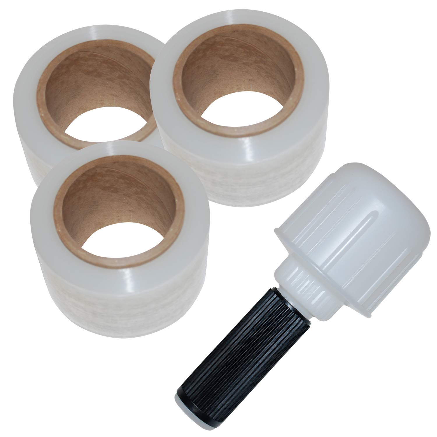 White Pack of 4 Top Pack Supply Plastic Bundling Stretch Film Dispensers