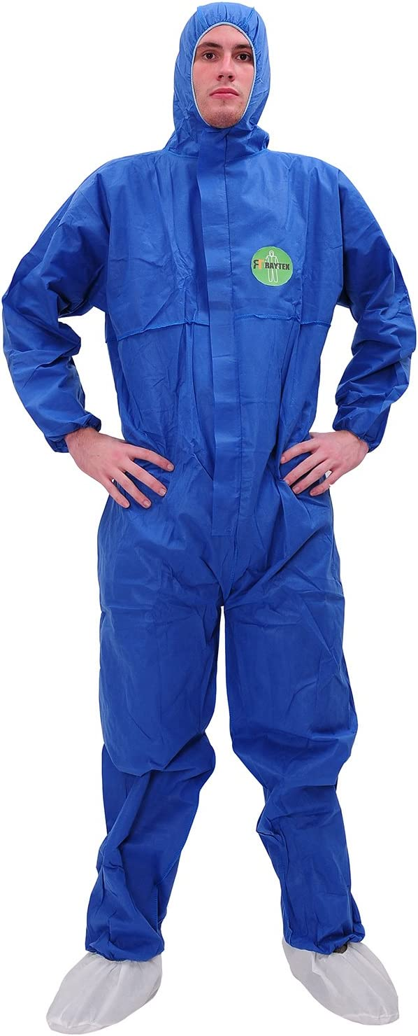 Reusable Suit Protective Overall Coverall Decorator Painter Mechanic Blue XL
