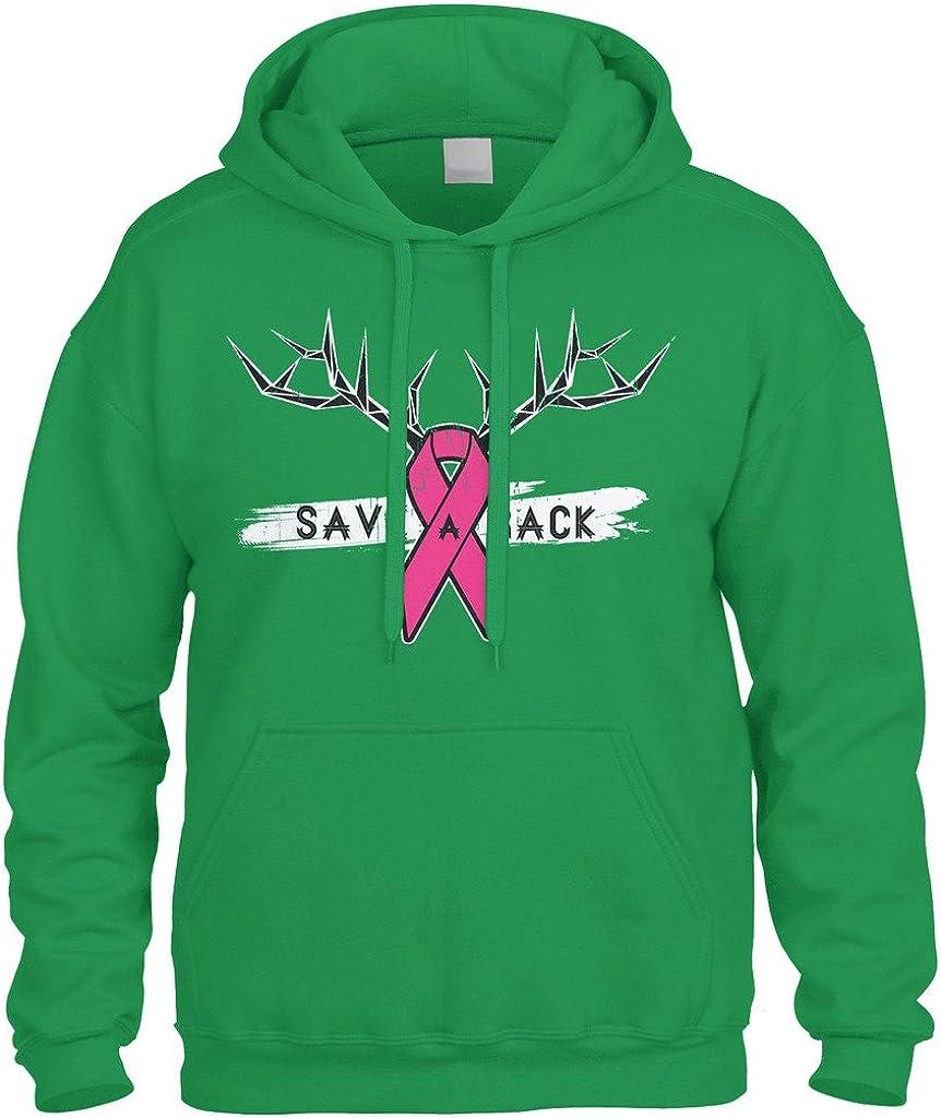 Save A Rack Hoodie Breast Cancer Awareness Pink Ribbon Antlers Sweatshirts