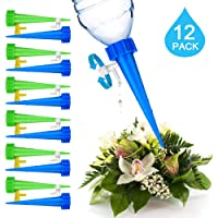 happyhanin Automatic Self Plant Watering Devices with Slow Release Control Valve Switch for Indoor Outdoor Potted Flower Pots Plants - Pack of 12