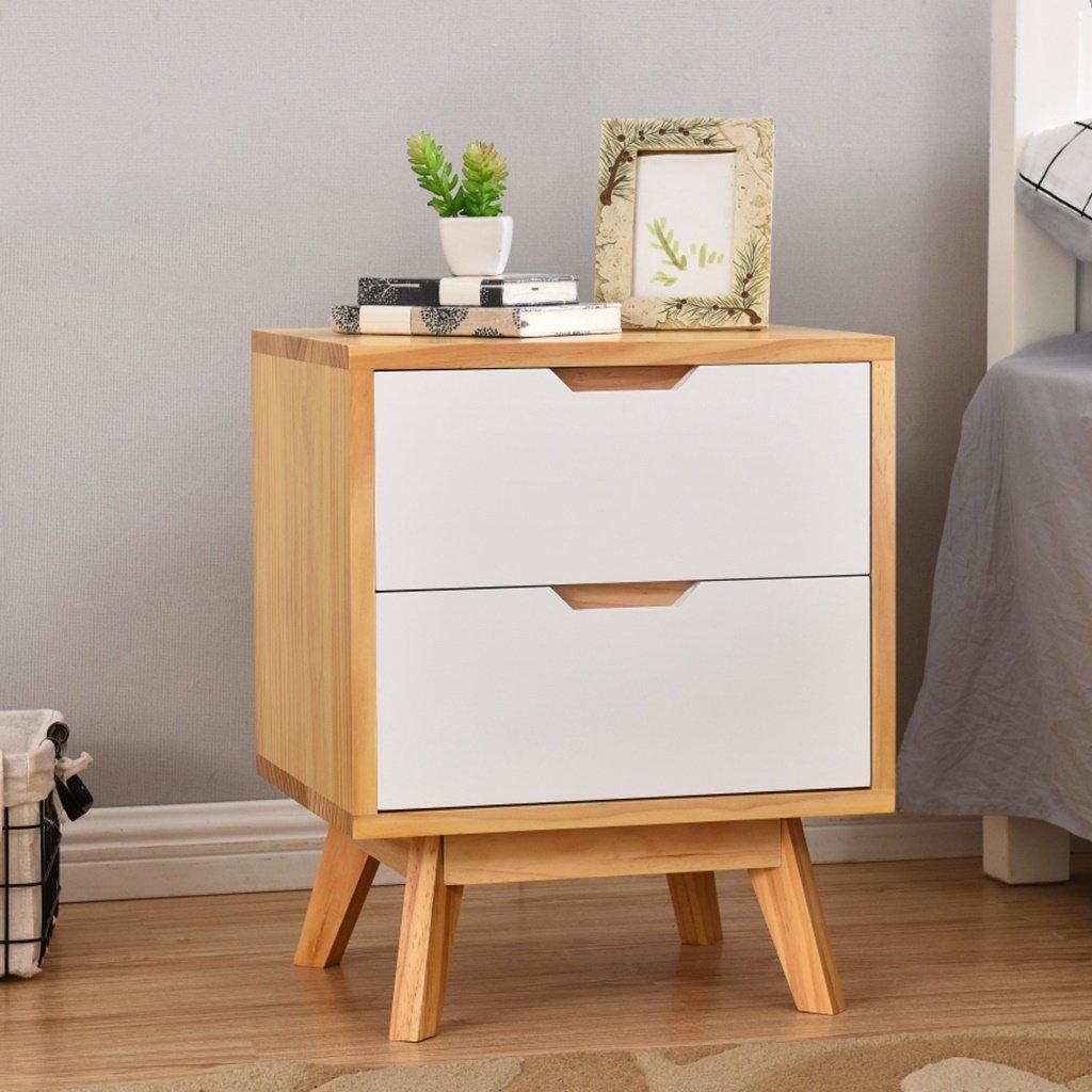 LI JING SHOP - Meubles en bois massif Tables de chevet Chambre de simplicité européenne Stockage Mini armoire