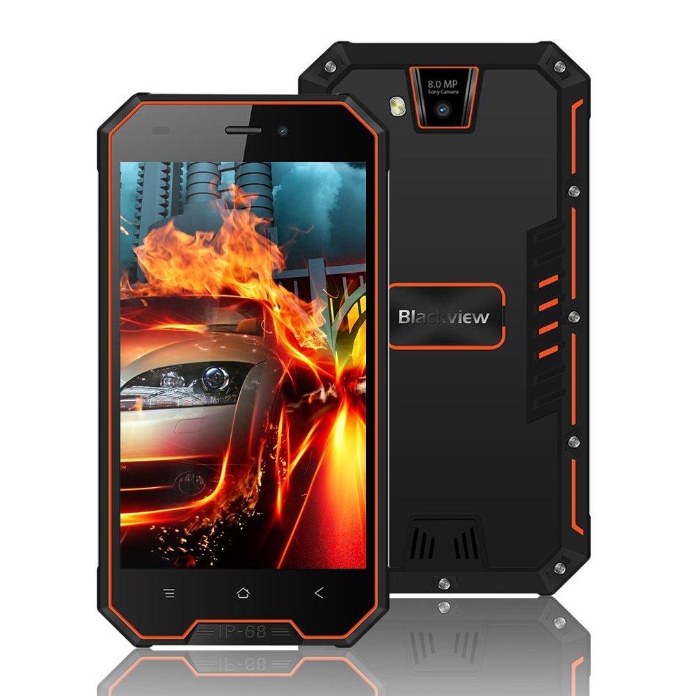 """TALLA BV4000 PRO. Blackview BV4000 Pro, Smartphone de 4.7""""HD (16GB ROM, 2GB RAM, Batería de 3680mAh, Cámara Dual de 8MP, Android 7.0 Telefono Resistente, Dual SIM Smartphone, GPS, Brújula, WiFi, Bluetooth)"""