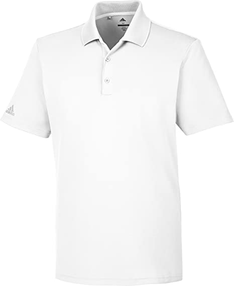 4c0dd7e2782 adidas Golf Mens Short Sleeve Golf Performance Polo Shirt White Small