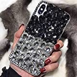 5c cases with gems - Case for iphone 5C,Luxury 3D Handmade Sparkle Stunning Stones Crystal Rhinestone Bling Full Diamond Gemstone Glitter Case for Apple iphone 5C(C Black/White)