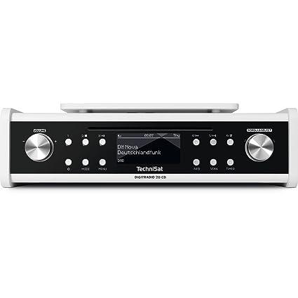 TechniSat DIGITRADIO 20 CD – Modernes & kompaktes DAB+ Küchen- &  Badezimmerradio – Empfangstarkes UKW Unterbauradio mit CD Player & Uhr