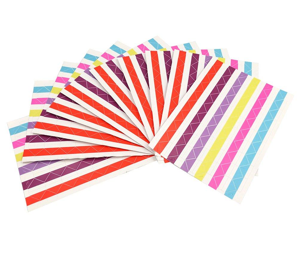 13 Sheet (1326-pack)Photo Corners Self Adhesive PVC Paper Photo Foto Corner Stickers for Scrapbooking Personal Journal (13 colors) YYaaloa