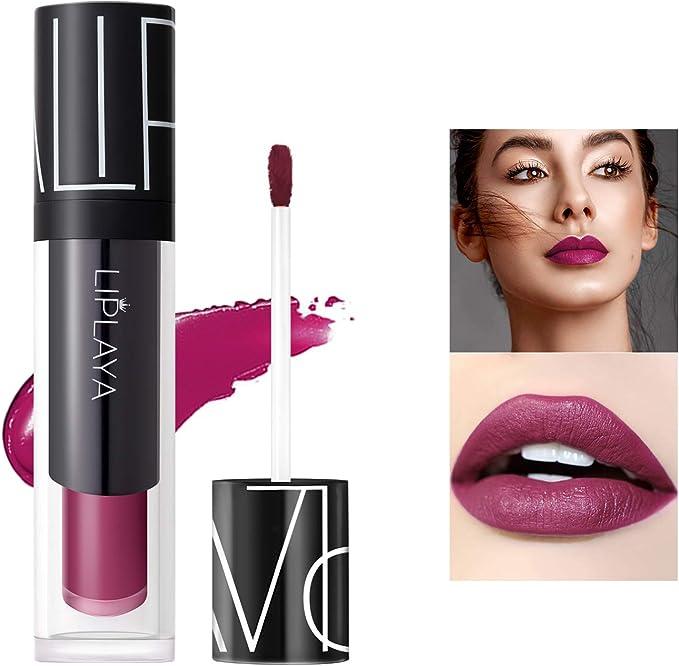 Mimore Moist Lipstick Maquillaje profesional Lápiz labial líquido, impermeable Taza antiadherente Sexy Colors Lápiz labial Hidratante ...