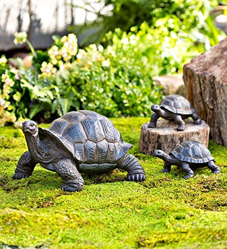 (Plow & Hearth Tortoise Family Resin Garden Accent Statues)