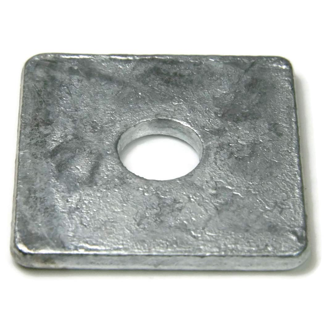 Square Washers Hot Dipped Galvanized - 5/8'' (ID 11/16'', OD 3'', THK 0.25'') - Qty-25 by RAW PRODUCTS CORP