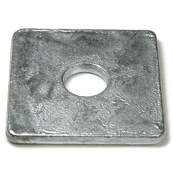Square Washer 1//2 Bolt 2 OD Steel