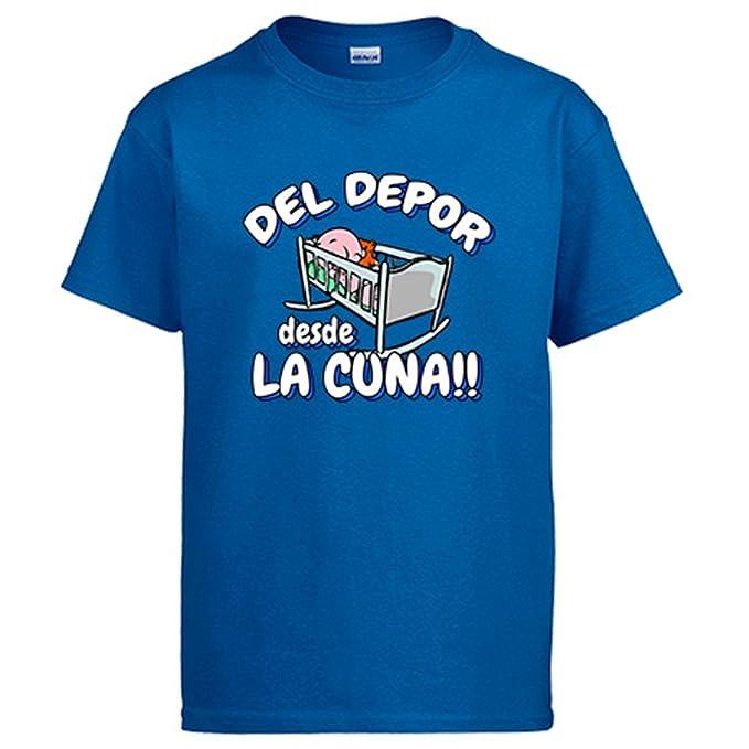 Diver Camisetas Camiseta del Depor Desde la Cuna La Coruña fútbol: Amazon.es: Ropa y accesorios