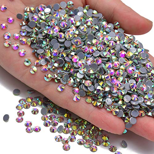1440pcs Hotfix Quality Crystal Rhinestones Flatback Nail Art Pick Color (Crystal AB, 10ss) 10ss Crystal Hot Fix Rhinestones