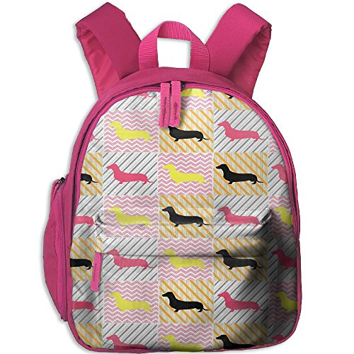 Dachshund Love Dog Toddler Kids Backpack Preschool Backpack Pink Mini Backpack