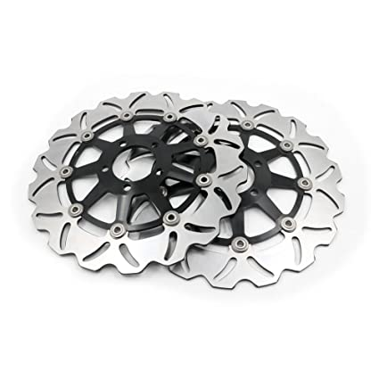 Amazon.com: Alpha Rider Motorcycle CNC Stainless Steel Front ...