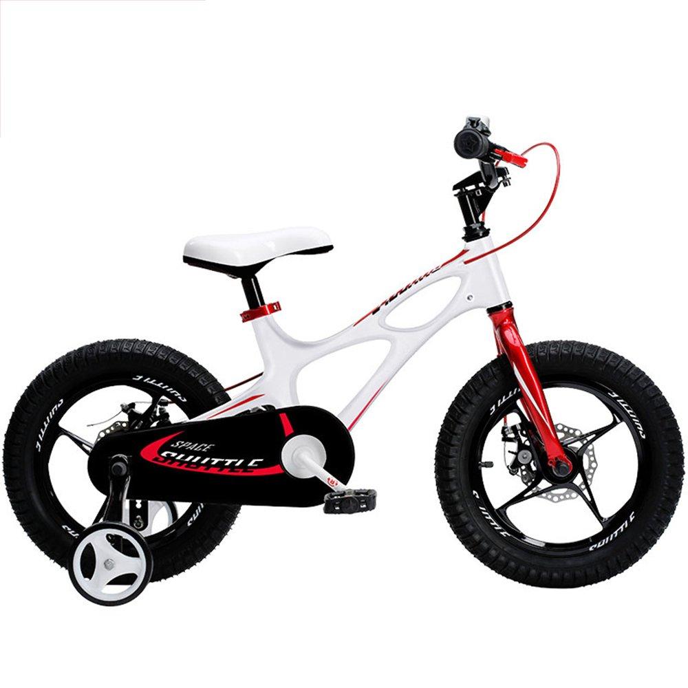 LVZAIXI ロイヤルベイビー、新発売のスペースシャトルキッズバイク、男の子用軽量マグネシウムフレームバイク、年齢3-6歳用マグネシウムトレーニングホイール付きバイク ( 色 : 白 , サイズ さいず : 16Inch ) B07BT198VR 16Inch|白 白 16Inch