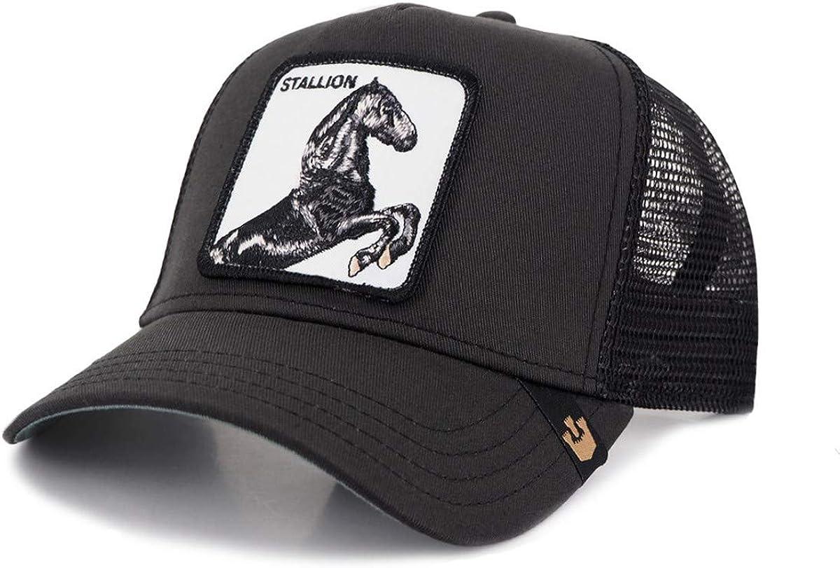 Gorra trucker negra caballo spirit Stallion de Goorin Bros.