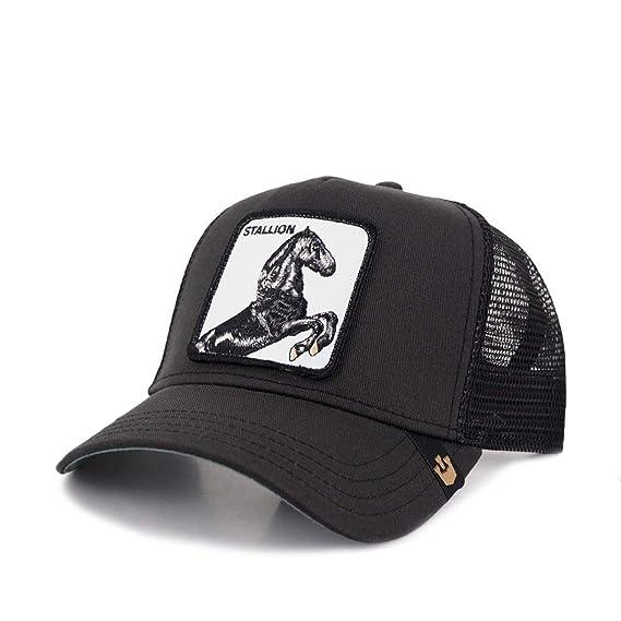 0f4f69cf GOORIN BROS - Casquette Trucker Noire Stallion Goorin Bros - Noir Taille  unique Homme / Femme: Amazon.fr: Vêtements et accessoires