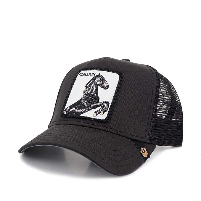b6210e018b0399 Goorin Bros. Men's Animal Farm Snap Back Trucker Hat, Black Horse, One Size