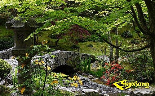 Garden & Stone Bridge Patio & Gazebo Backdrop Screen 9-ft. x 7-ft.
