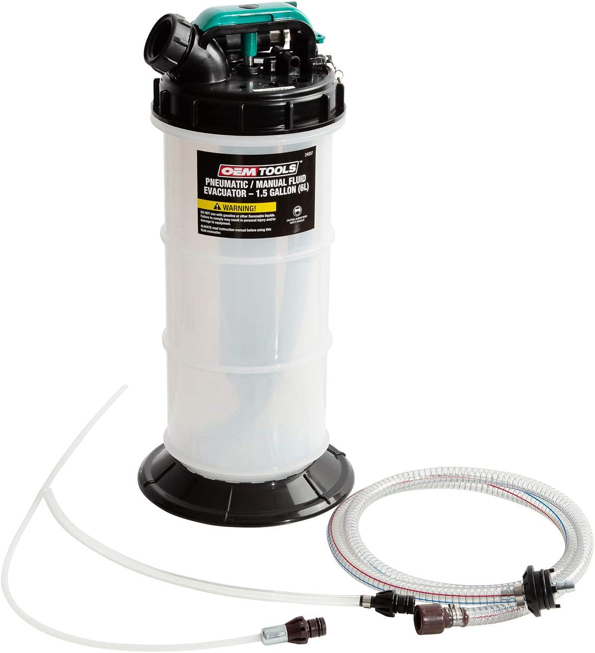 OEMTOOLS 6.0 Liter 24937 Pneumatic/Manual Fluid Extractor 1.5 Gallon (6L)