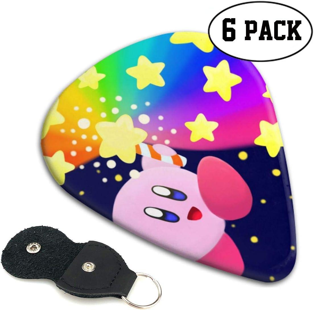 Star Rod Kirby Super Smash Bros - Púas para guitarra (6 púas) (para amantes de la música)