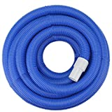 Pool Central Blue Blow-Molded PE In-Ground Swimming Pool Vacuum Hose with Swivel Cuff - 25' x 1.5''