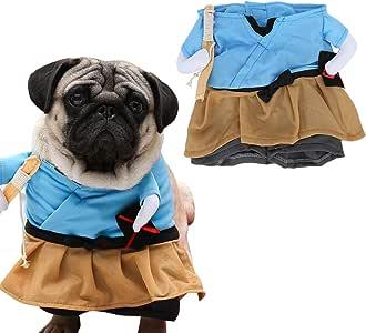 Ichiias Disfraz de Mascota Divertido Samurai Traje de Perro ...