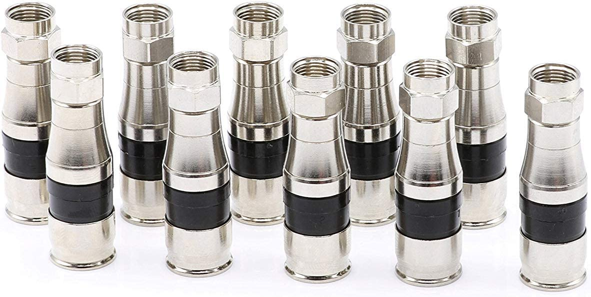 with Weather Seal O Ring and Water Tight Grip for RG11 Coax Cable Coaxial Cable Compression Fitting THE CIMPLE CO 4 Pack