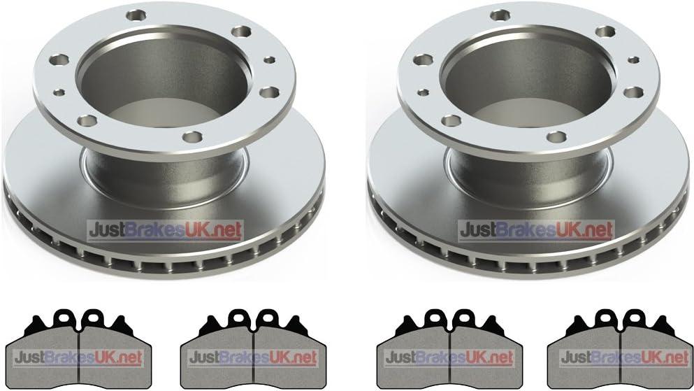 Iveco Eurocargo Tector 07 Vorne Bremsscheiben Pads Mit Separaten Abs Ring Auto